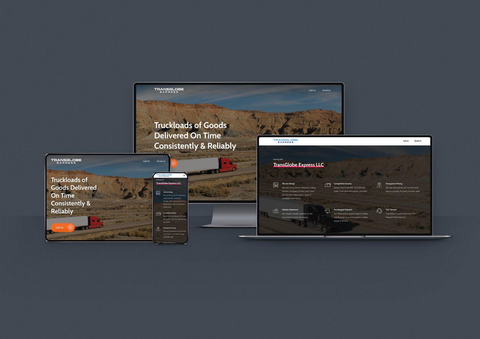 Website for Transportation Company